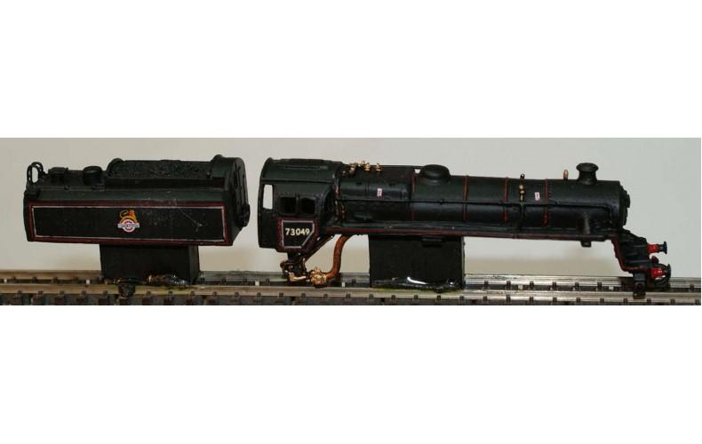 B36 BR Class5 & BR1 tenderreqs a3 &lms t'der u'frame Unpainted Kit Nscale 1:148