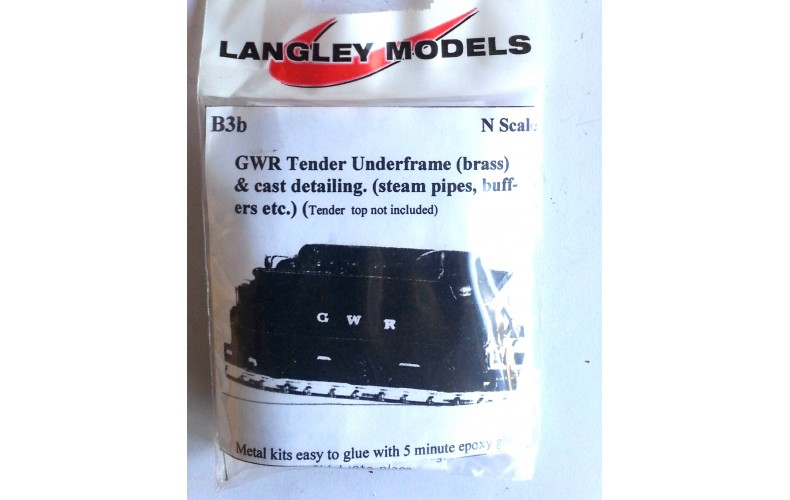 B3b GWR 3500 chassis only (no tender body)  Unpainted Kit Nscale 1:148