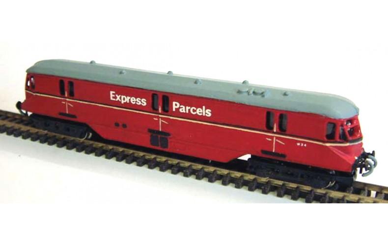 B4a G.W.R.Diesel Parcel Railcarreqs Original farish railcar  Unpainted Kit Nscale 1:148