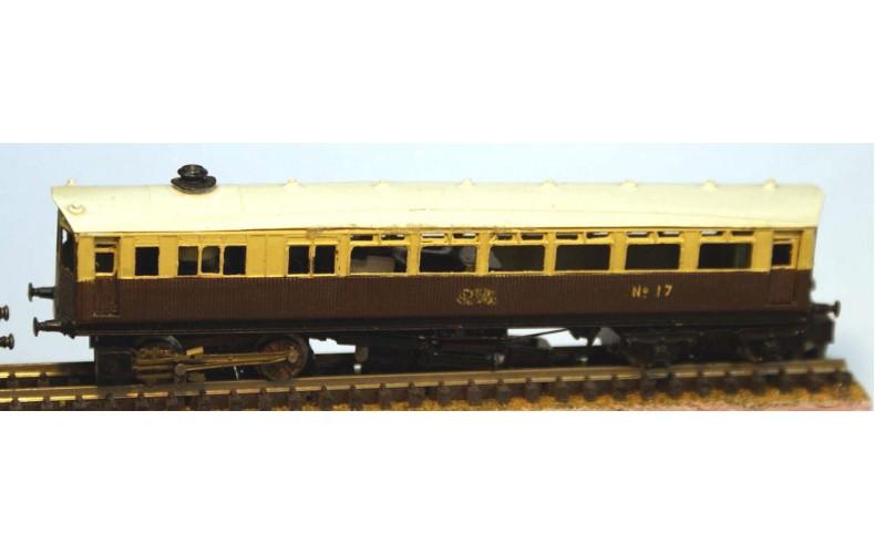 B8 G.W.R. Steam Railcar reqs lifelike C420 Unpainted Kit Nscale 1:148