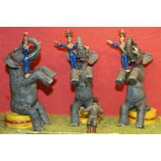 CIR3 Seated Elephant Act & trainer Unpainted Kit OO Scale 1:76