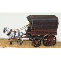 E14 Parcel van - 1 horse Unpainted Kit N Scale 1:148