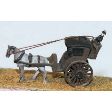 E16 Hansom Cab Unpainted Kit N Scale 1:148