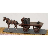 E22 Coal cart - horse drawn Unpainted Kit N Scale 1:148