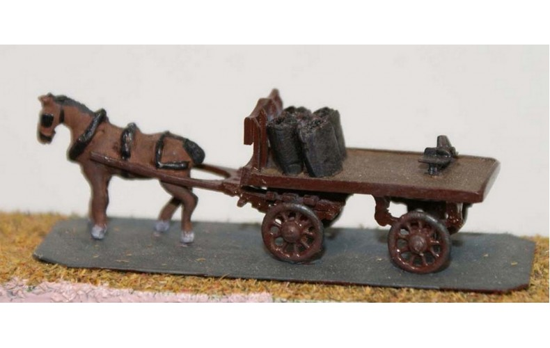 E22 Coal cart - horse drawn Unpainted Kit N Scale 1:148
