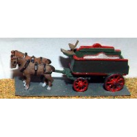 E23 Brewery Dray - horse drawn Unpainted Kit N Scale 1:148