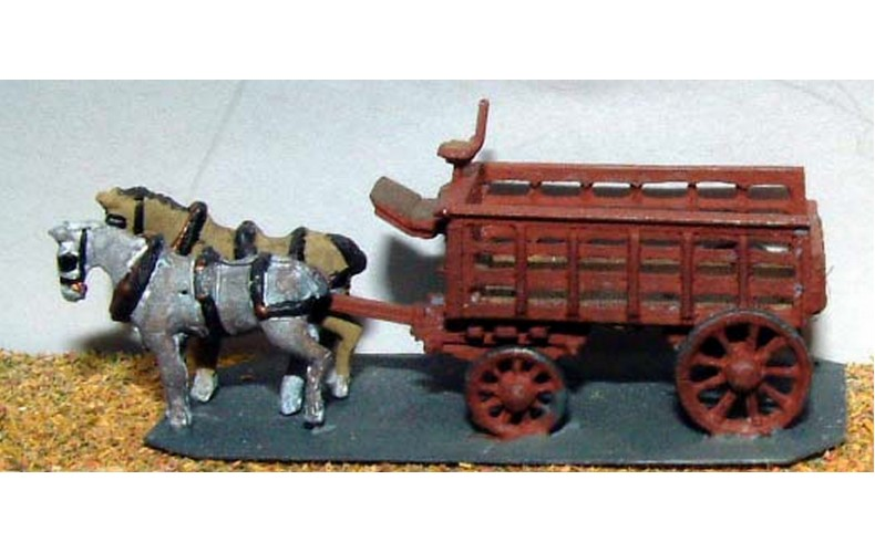 E24 Railway Delivery lorry 5 ton 2 horse Unpainted Kit N Scale 1:148