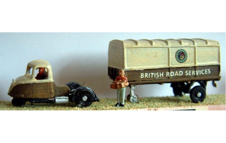 E3 B.R. Scammell Scarab Covered 1950'sUnpainted Kit N Scale 1:148