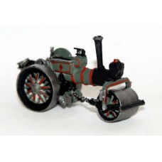 E46 Burrell Twin Cylinder Road Roller Unpainted Kit N Scale 1:148
