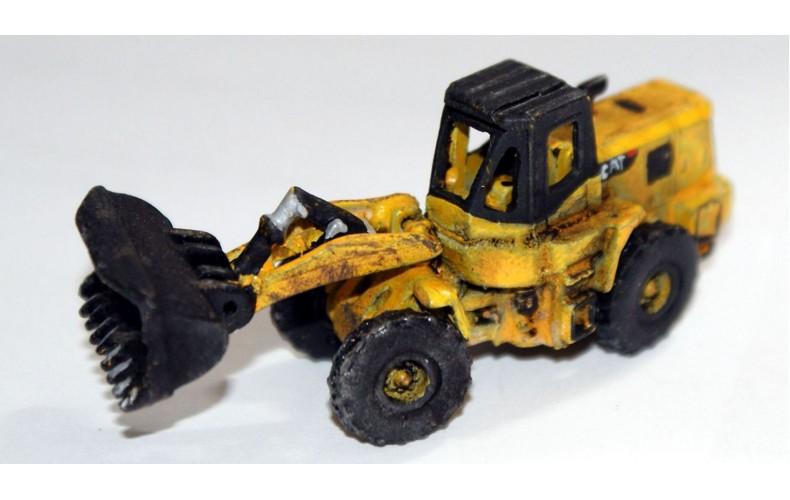 E55 JCB/CAT Type Wheeled Hi Lift Loader Unpainted Kit N Scale 1:148