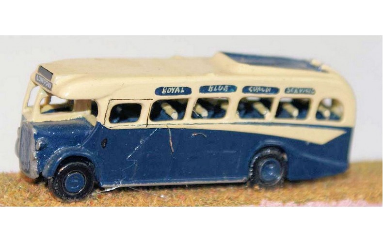 E9 Bristol 'Royal Blue' coach 1940's Unpainted Kit N Scale 1:148