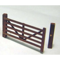 F105bp Painted Small 5 Bar Gate OO Scale 1:76