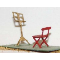 F108 etched brass Seats & Music stands  Unpainted Kit OO Scale 1:76