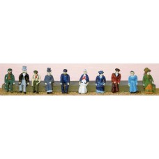 F10 10 Vic/Edw. Seated figures Unpainted Kit OO Scale 1:76