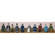 F10p Painted Vic/Edw Seated 10 figures OO 1:76 Scale Model Kit