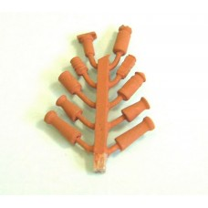 F111p Painted 10 Chimney Pots (terracotta) OO Scale 1:76