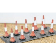 F112 10 Road Traffic cones F112 Unpainted Kit OO Scale 1:76