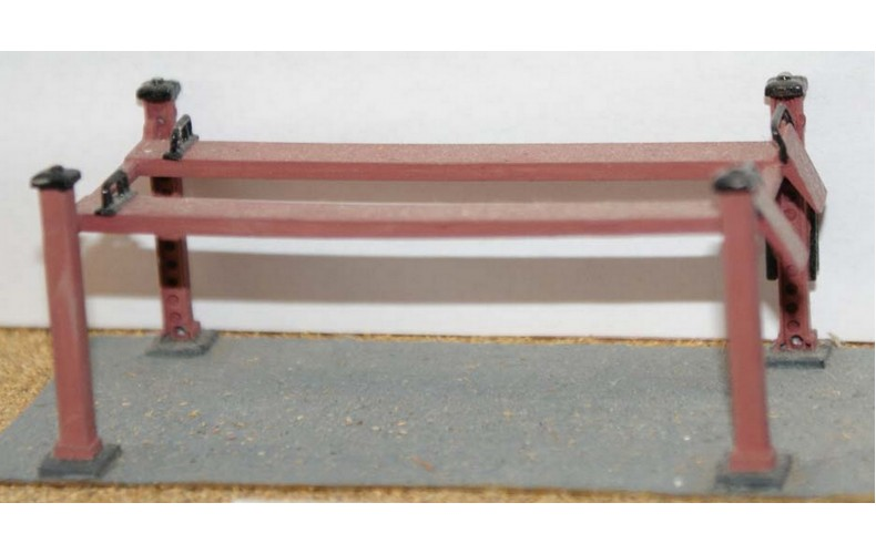 F117 Garage 4 pillar Hydraulic Car Ramp F117 Unpainted Kit OO Scale 1:76