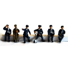 F119a NEW 6 Seated Loco Crew 1950's Unpainted Kit OO Scale 1:76