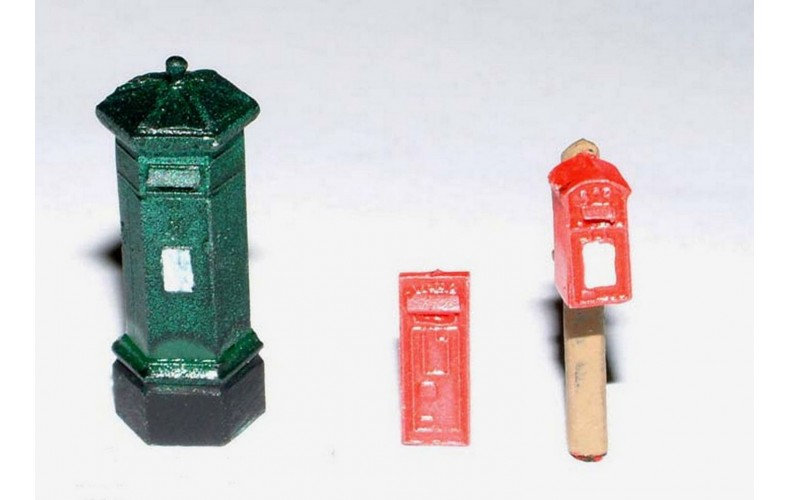 F11 3 different Victorian Pillar Boxes F11 Unpainted Kit OO Scale 1:76