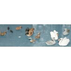 F123 Waterfowl (Swans, ducks, Geese etc) Unpainted Kit OO Scale 1:76