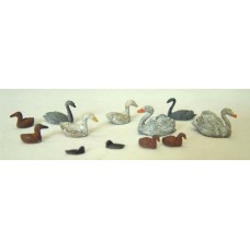 F123p Painted Waterfowl-swans and ducks etc OO Scale 1:76 Painted Model
