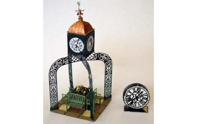 F128 Civic, garden & Station Clocks F128 Unpainted Kit OO Scale 1:76