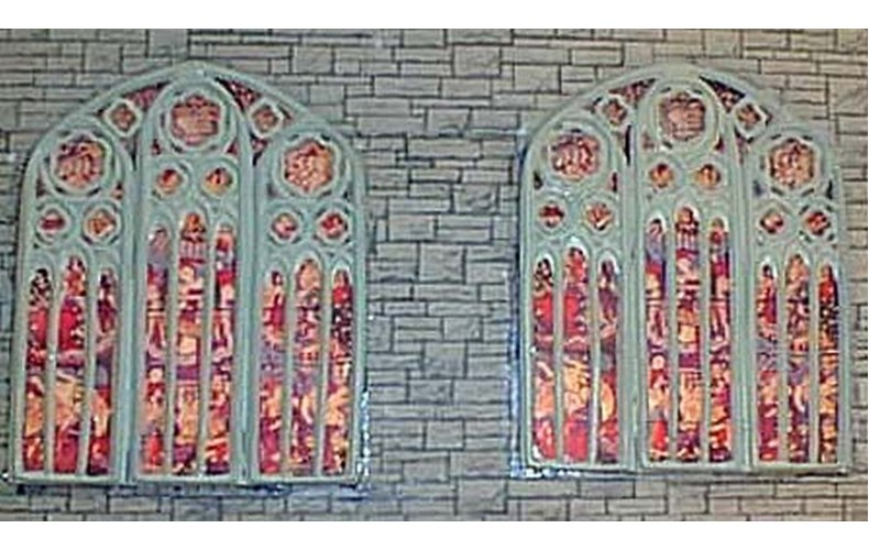 F131 large Church Windows & stained glass F131 Unpainted Kit OO Scale 1:76