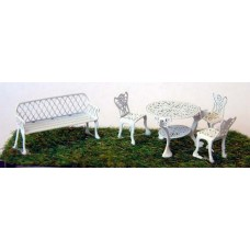 F133 wrought iron Garden Furniture F133 Unpainted Kit OO Scale 1:76