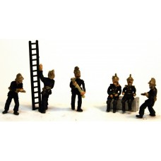 F134b NEW 6 x Vic/Edw Firemen various poses Unpainted Kit OO Scale 1:76