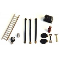 F134c NEW Fire Fighting Equipment/hoses etc Unpainted Kit OO Scale 1:76