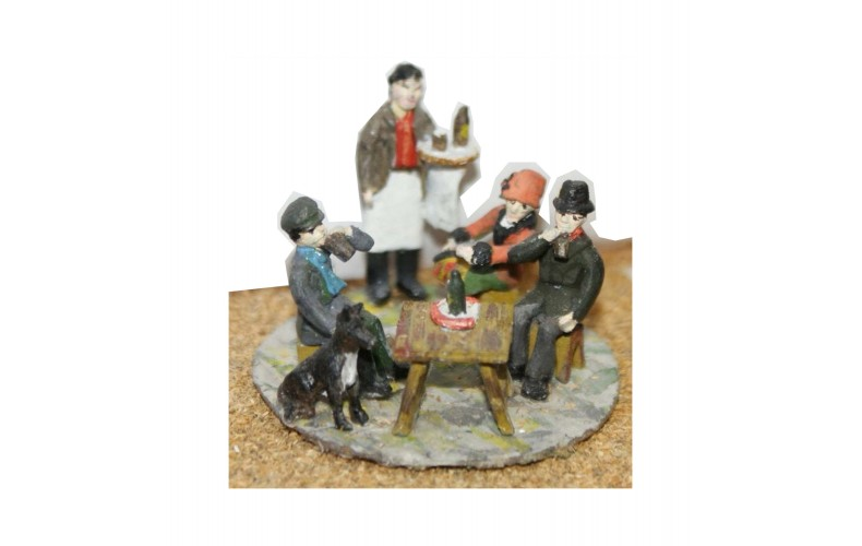 F13 Pub or Café scene F13 Unpainted Kit OO Scale 1:76