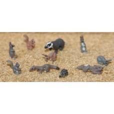 F146 10 Wild animals Unpainted Kit OO Scale 1:76