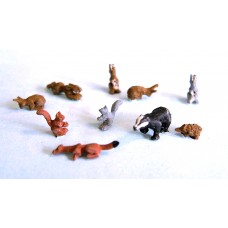 F146p Painted Wild Animals OO Scale 1:76 Painted Model