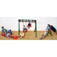 F152 Childrens Playground scene Unpainted Kit OO Scale 1:76