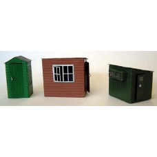 F156 assorted Garden Sheds F156 Unpainted Kit OO Scale 1:76