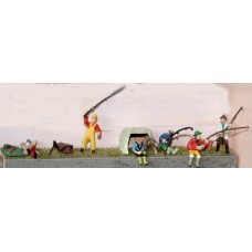F163 Fisherman & Equip (rods,box & shelter)  Unpainted Kit OO Scale 1:76