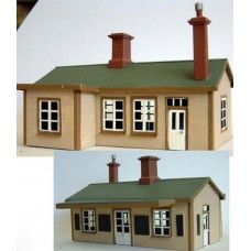 F166 Surburban Station Building (brass) Unpainted Kit OO Scale 1:76