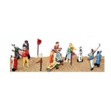 F167 6 assorted Golfers & Equipment Unpainted Kit OO Scale 1:76