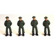 F170cp Painted 4x Royal Marine Soldiers 'At Ease'50's OO 1:76 Scale Model Kit
