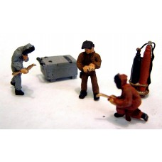 F171cp Painted Welding Figures & Equipment OO 1:76 Scale Model Kit