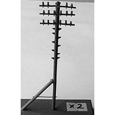 F180 2 Telegraph poles F180 Unpainted Kit OO Scale 1:76
