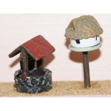 F187p Painted Wishing well & Dovecote OO Scale 1:76