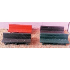 F190a 4 Platform double bench seats F190a Unpainted Kit OO Scale 1:76