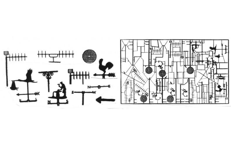 F194 TV Aerials/weather vanes F194 Unpainted Kit OO Scale 1:76