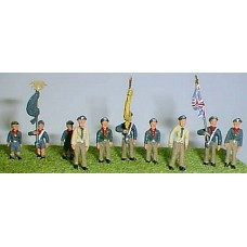 F197a 1960's on Cubs/Scouts & Flag Bearers Unpainted Kit OO Scale 1:76