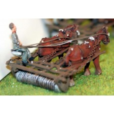 F19a Horse Drawn Disc harrow/roller Unpainted Kit OO Scale 1:76