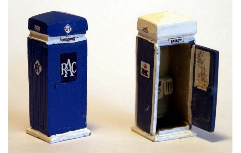 F205a RAC Phone Box &paper artwork (see T14 transfers) F205a Unpainted Kit OO Scale 1:76