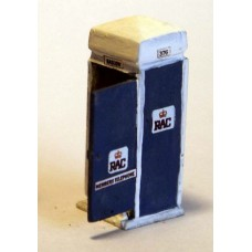 F205ap Painted RAC Box (incl 50or 70's artwork)OO Scale 1:76