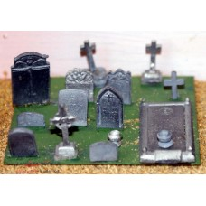 F20 assorted Grave and Tombstones F20 Unpainted Kit OO Scale 1:76